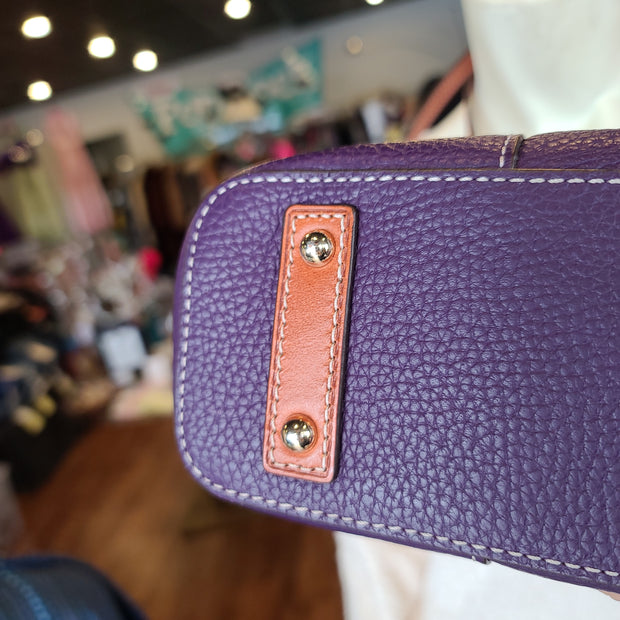 (ORIG.$198) DOONEY & BOURKE NWT Purple Bag - PopRock Vintage. The cool quotes t-shirt store.