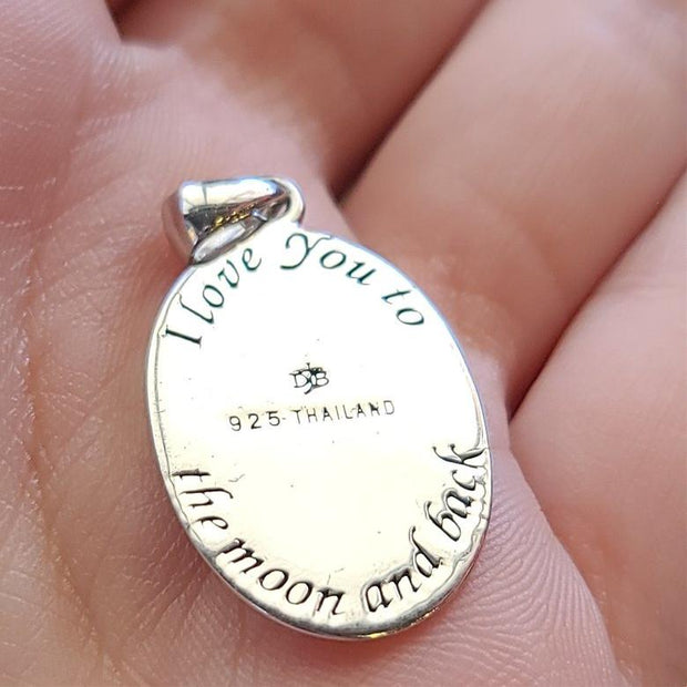 "925 STERLING SILVER ""To the Moon"" Pendant - PopRock Vintage. The cool quotes t-shirt store."