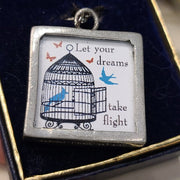 Shari Dixon NIB Picture Frame Necklace - PopRock Vintage. The cool quotes t-shirt store.