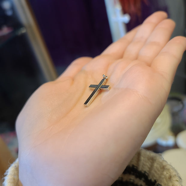 Sterling Silver Cross Pendant - PopRock Vintage. The cool quotes t-shirt store.