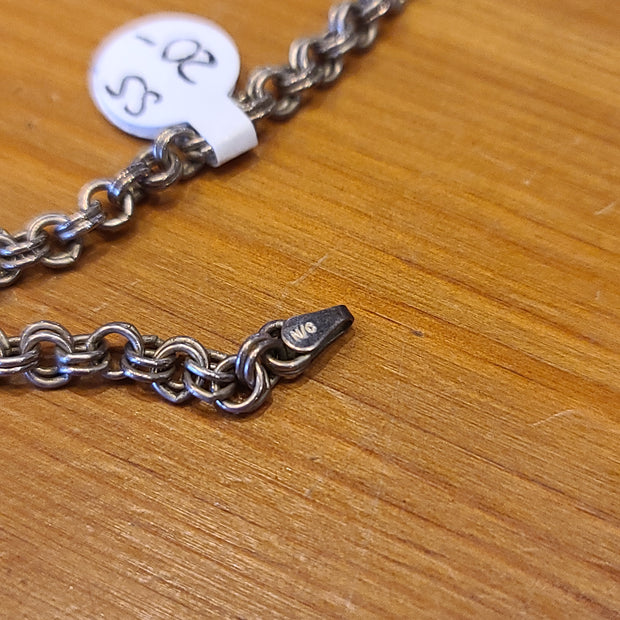 Sterling Silver 925 Chainmail Bracelet - PopRock Vintage. The cool quotes t-shirt store.