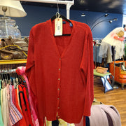 Karen Scott II Red Sparkle Cardigan - PopRock Vintage. The cool quotes t-shirt store.