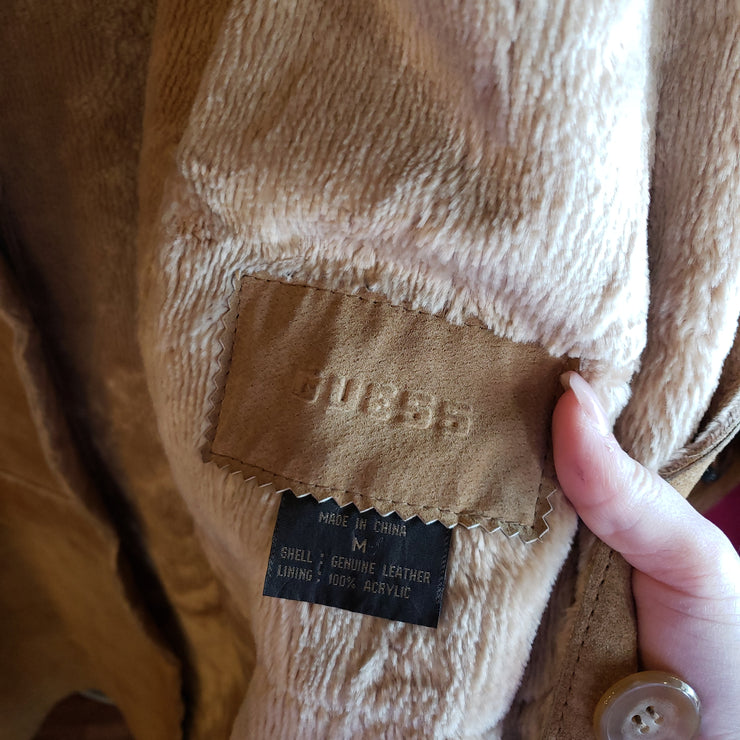 GUESS SHEARLING COAT S/M - PopRock Vintage. The cool quotes t-shirt store.
