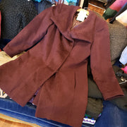 TRINA TURK Burgundy Wool Coat 12 L - PopRock Vintage. The cool quotes t-shirt store.