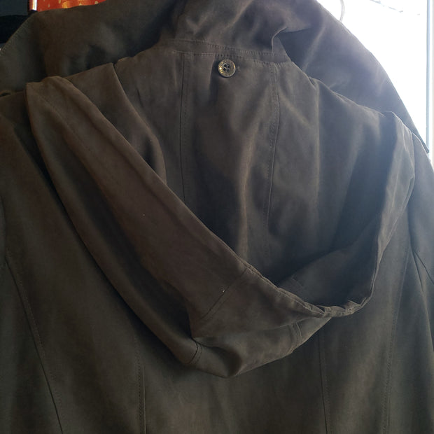 JONES NEW YORK Dark Olive Drawstring Coat M - PopRock Vintage. The cool quotes t-shirt store.
