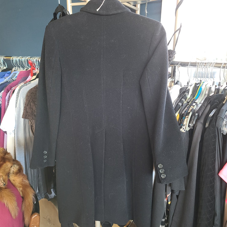 PRICE DROP! BANANA REPUBLIC Black Wool-blend Coat XS - PopRock Vintage. The cool quotes t-shirt store.