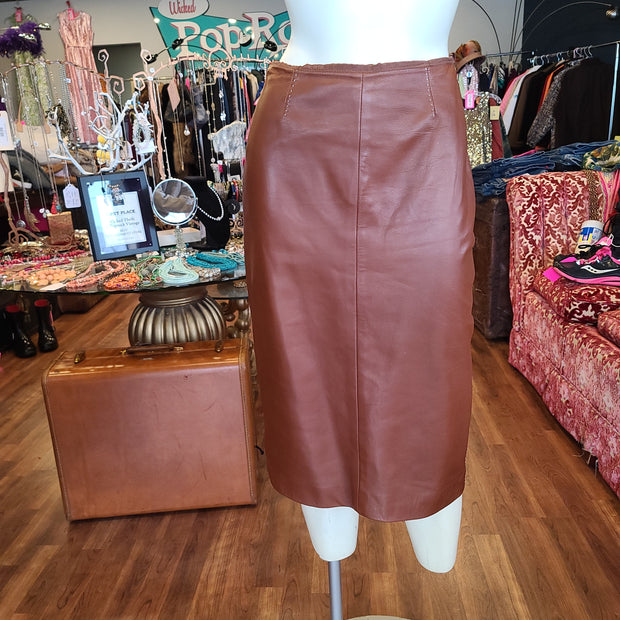 PRICE DROP! RALPH LAUREN Purple Label Leather Skirt 2 - PopRock Vintage. The cool quotes t-shirt store.