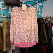 Bibi Pink/Purple Cheetah Print Top XL - PopRock Vintage. The cool quotes t-shirt store.