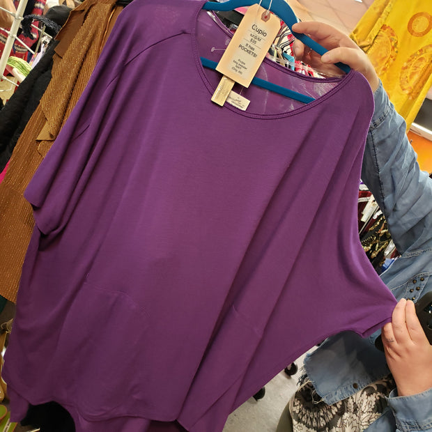 Cupio Purple long sweater New with Tags - PopRock Vintage. The cool quotes t-shirt store.