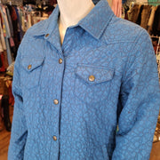 PRICE DROP! ARIAT Blue Snap Up Light Coat S - PopRock Vintage. The cool quotes t-shirt store.