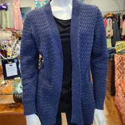 PRICE DROP! L.L BEAN Blue Knit Cardigan sweater M - PopRock Vintage. The cool quotes t-shirt store.