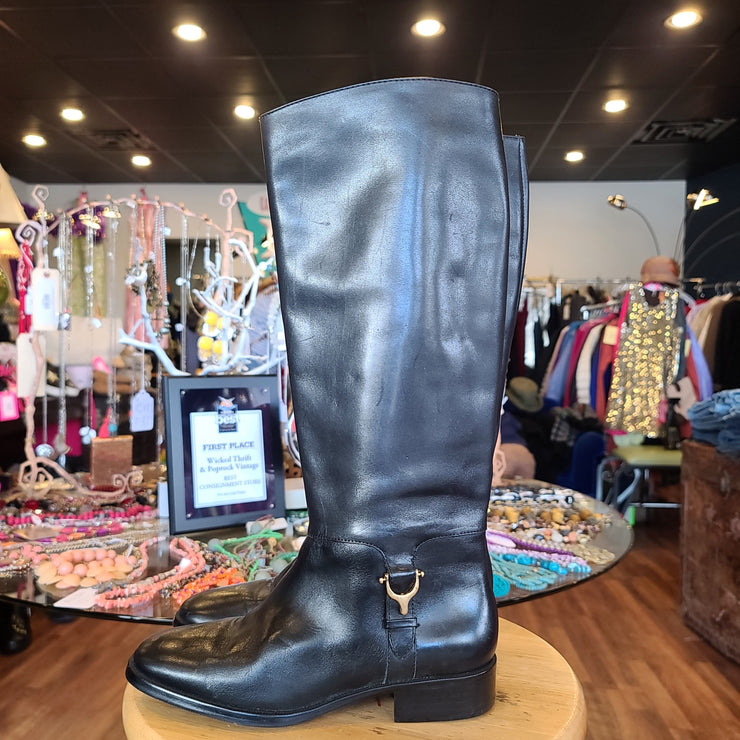 PRICE DROP! ETIENNE AIGNER Riding Boots - PopRock Vintage. The cool quotes t-shirt store.