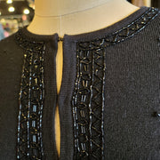 LIZ CLAIBORNE NWT Black Sparkle Cardigan M - PopRock Vintage. The cool quotes t-shirt store.