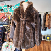PRICE DROP! FABULOUS FURS Deep Brown Faux Fur M L - PopRock Vintage. The cool quotes t-shirt store.