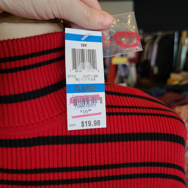 STYLE & CO NWT Red Turtleneck Top XL