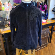 ALFRED DUNNER Black Velour Track Jacket 12 L - PopRock Vintage. The cool quotes t-shirt store.