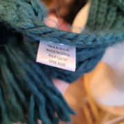 CHERI Teal Knit Scarf - PopRock Vintage. The cool quotes t-shirt store.