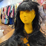 Halloween! Black Wig w. Bangs - PopRock Vintage. The cool quotes t-shirt store.