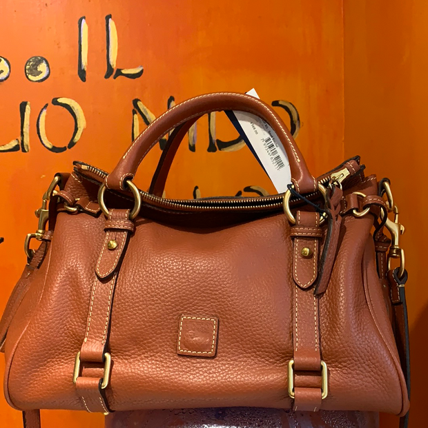 DOONEY & BOURKE NWT Burnt Orange Satchel - PopRock Vintage. The cool quotes t-shirt store.