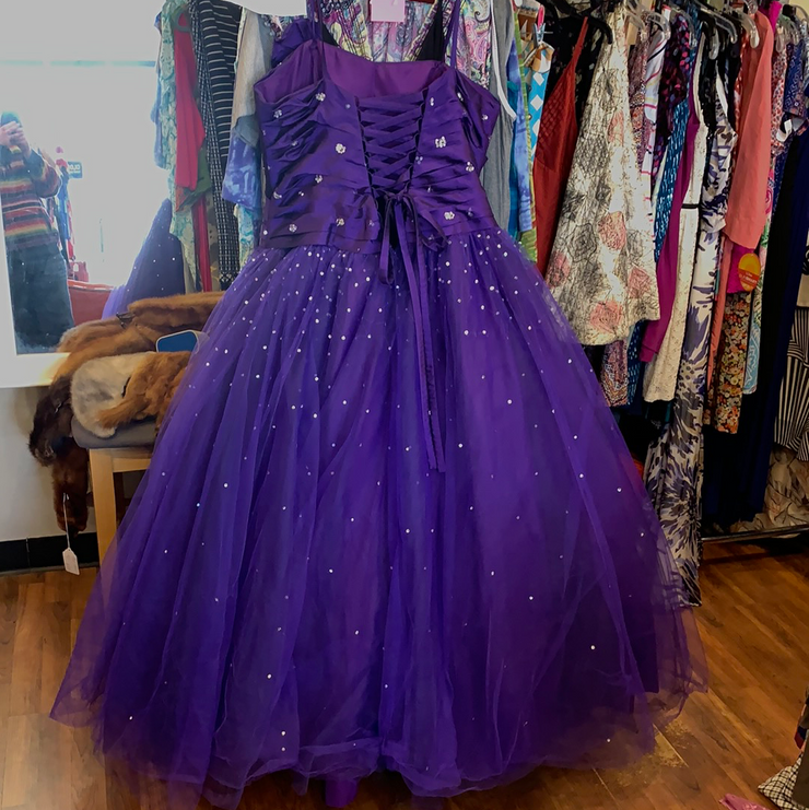 MORI LEE Violet Prom Dress L XL - PopRock Vintage. The cool quotes t-shirt store.