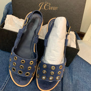 J.Crew NEW in Box Blue Grommet Sandals 8.5 - PopRock Vintage. The cool quotes t-shirt store.