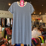 Lou & Grey Striped Signature t-shirt Dress S - PopRock Vintage. The cool quotes t-shirt store.