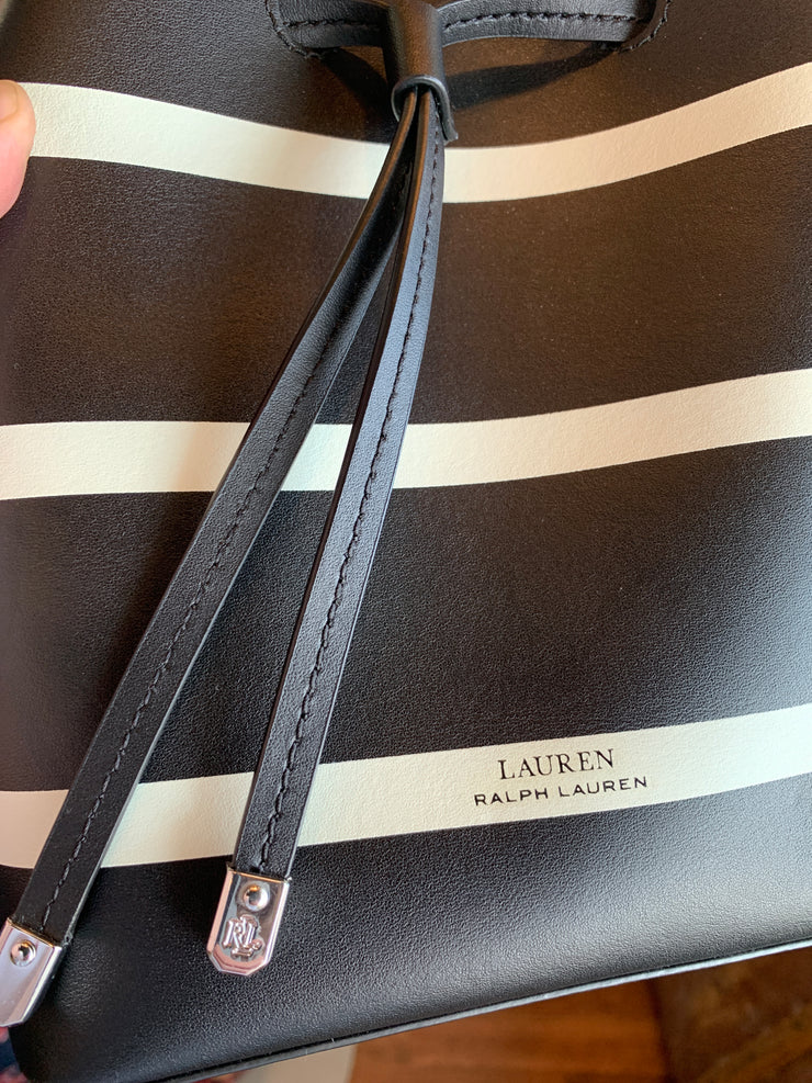 "NEW Ralph Lauren ""Dryden"" Striped Crossbody Bag - PopRock Vintage. The cool quotes t-shirt store."
