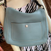 Coach Light Blue Leather Shoulder Bag - PopRock Vintage. The cool quotes t-shirt store.