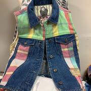 HYSTERIC GLAMOUR Denim Vest S - PopRock Vintage. The cool quotes t-shirt store.