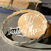 Sterling Silver Mexico Twist Bangle - PopRock Vintage. The cool quotes t-shirt store.