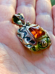 PRICE DROP Sterling 925 Silpada Amber Pendant - PopRock Vintage. The cool quotes t-shirt store.