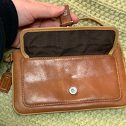 COACH Leather Caramel Zip Wallet Wristlet - PopRock Vintage. The cool quotes t-shirt store.