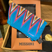 "MISSONI SCARF 17"" 1990s in box - PopRock Vintage. The cool quotes t-shirt store."