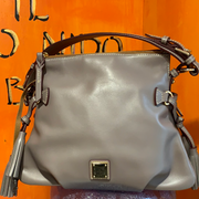 "DOONEY & BOURKE Like New ""Mackenzie"" Gray Bag - PopRock Vintage. The cool quotes t-shirt store."