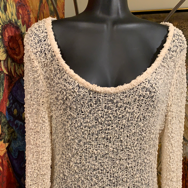 RAG & BONE Open-knit Ivory Sweater L - PopRock Vintage. The cool quotes t-shirt store.
