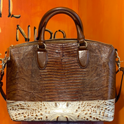 BRAHMIN Like New DUXBURY Lizard Bag - PopRock Vintage. The cool quotes t-shirt store.