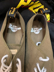 Men's Dr. Martens Olive Canvas Sneakers 8 - PopRock Vintage. The cool quotes t-shirt store.