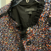 ANN TAYLOR Fiesta Tweed Fringe Jacket XXL - PopRock Vintage. The cool quotes t-shirt store.