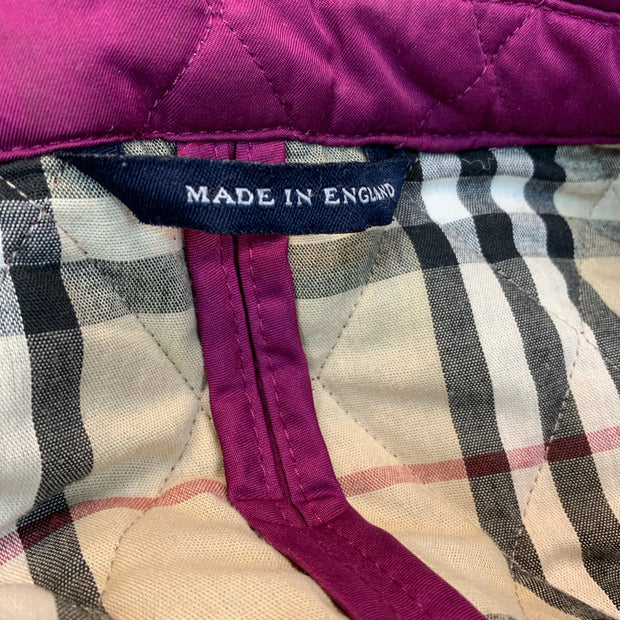 BURBERRY Purple QUILTED JACKET XL