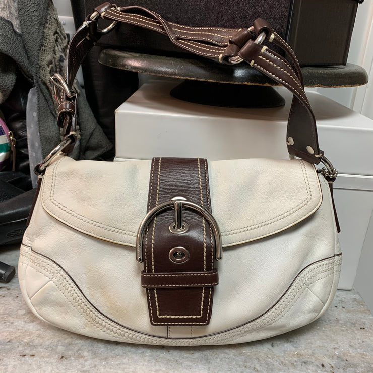 COACH 2000s Soho Brown/White Bag - PopRock Vintage. The cool quotes t-shirt store.