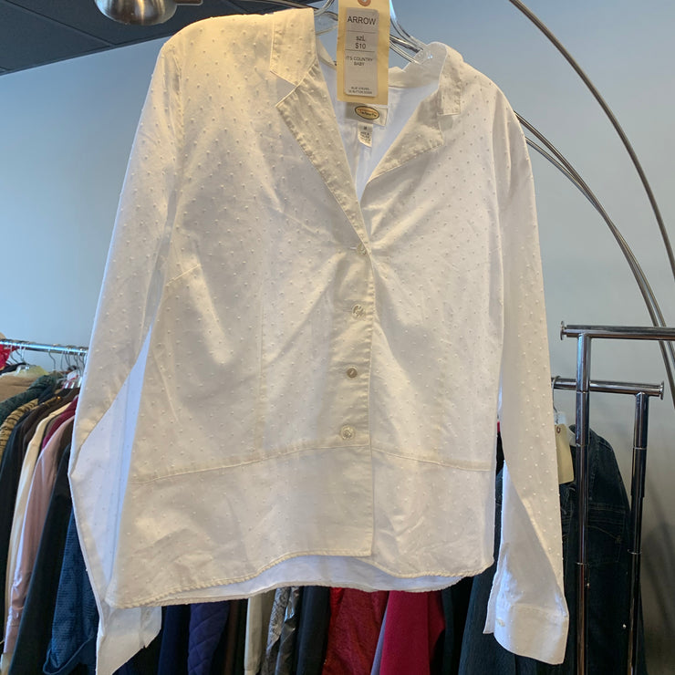 PRICE DROP Talbots White Jacket Top 16 - PopRock Vintage. The cool quotes t-shirt store.