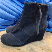 TOMS BLUE SUEDE Wedge Boots 10 - PopRock Vintage. The cool quotes t-shirt store.