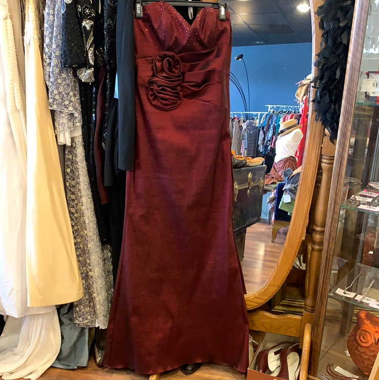 CHERI Garnet Taffeta Prom Dress XS - PopRock Vintage. The cool quotes t-shirt store.