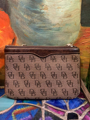 PRICE DROP! DOONEY & BOURKE Vintage Monogram Coin Wristlet - PopRock Vintage. The cool quotes t-shirt store.