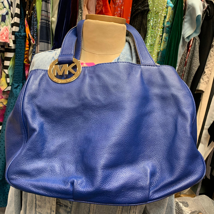 Michael Kors Blue Leather Bag - PopRock Vintage. The cool quotes t-shirt store.