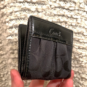 COACH Black Mini Bifold Wallet - PopRock Vintage. The cool quotes t-shirt store.