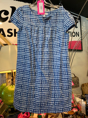 Vineyard Vines Blue Linen Batik Dress M - PopRock Vintage. The cool quotes t-shirt store.