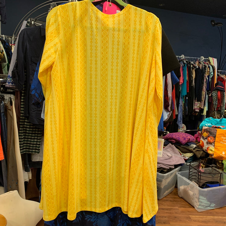 Lularoe NWT Caroline Yellow Long Cardi L - PopRock Vintage. The cool quotes t-shirt store.