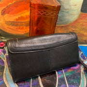 2000's COACH Leather Accordion Wallet Wristlet - PopRock Vintage. The cool quotes t-shirt store.