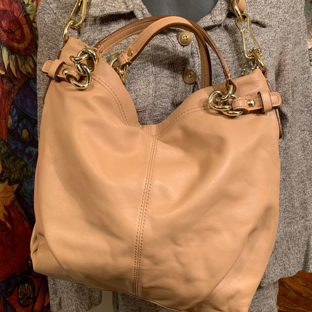 "COACH ""Brooke"" Tan Leather Bag - PopRock Vintage. The cool quotes t-shirt store."